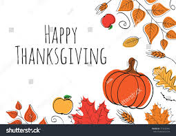 happy thanksgiving day background stock vector
