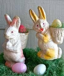 paper mache easter bunny collecting paper mache bunnies vintage market