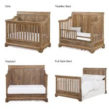 Turning Crib Into Toddler Bed by Bertini Pembrooke 4 In 1 Convertible Crib Natural Rustic