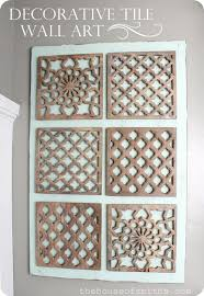 diy decorative tile wall