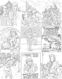 donald trump coloring book tim foley illustration