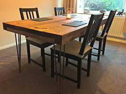 diy tutorial rustic dining table with hairpin legs tea on