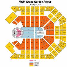 Mgm Grand Floor Plan Las Vegas Mgm Grand Garden Arena Bon Jovi Seating Chart Mgm Grand Garden