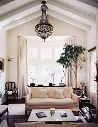 Chandelier For Cathedral Ceiling Neutral Chic Gorgeous Living Room Rooms Design Chandelier Sofa