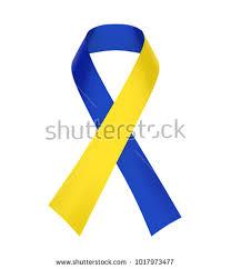 blue and yellow ribbon blue yellow ribbon awareness stock illustration