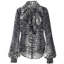 plus size silk blouse plus sizes ruffle front zebra print silk blouse grey polyvore