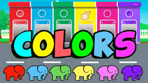 learn colors with elephant for kids u0026 color garage video for