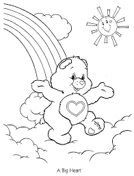 draw care bear coloring