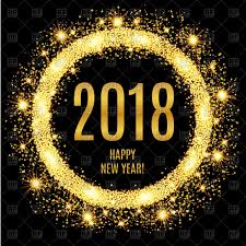 s e katzen spr che vector image of 2018 happy new year glowing gold background