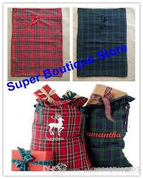 large christmas gift bags large christmas gift bags monogrammed plaid santa sack x