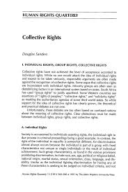 collective rights 13 human rights quarterly 1991
