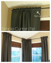 easy curtain fix diy curtain fix