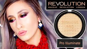 new makeup revolution pro illuminate review swatches demo