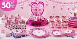 girl themes for baby shower it s a girl baby shower party supplies party city
