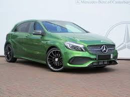 mercedes green used mercedes a class amg line green cars for sale motors co uk