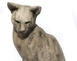 cat sculpture etsy
