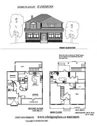 Narrow Lot House Plans Craftsman by Small 2 Story Cottage Plans Simple Two House With Basemen Hahnow