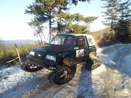 jeep samurai for sale 1990 suzuki sidekick with camoplast utv snow tracks build thread