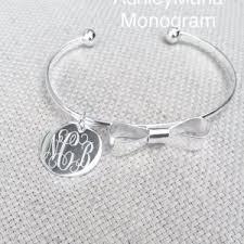 Monogram Bracelet Silver Monogram Bracelets Archives Ashley Maria Incorporated