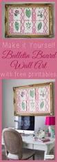 diy bulletin board cheap wall art with free printables atta