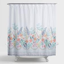 Botanical Shower Curtains Scrolling Botanical Garden Print Shower Curtain World Market