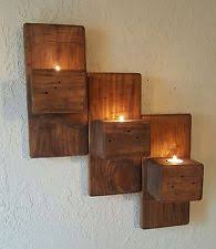 Wall Mounted Candle Sconce Wooden Rustic Primitive Wall Mounted Candle Sconces Ebay