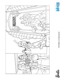 barbie takes sequin for a walk coloring pages hellokids com