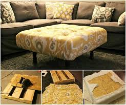 Diy Ottoman Coffee Table Diy Storage Ottoman Ideas From Recycle Crates And Pallets Diy