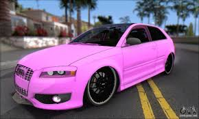 pink audi audi s3 2006 custom for gta san andreas