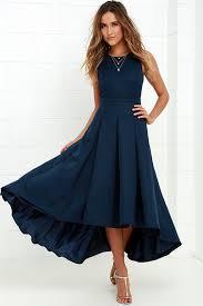 navy blue dress lovely navy blue dress high low dress formal dress 82 00