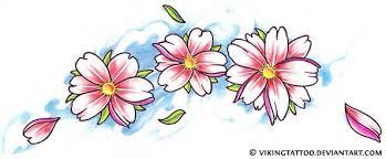 small cherry blossom tattoo design