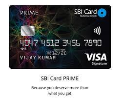Sbi Cc Bill Desk Sbi Card Launches U201cprime U201d Credit Card U2013 Review Cardexpert