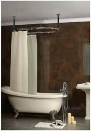 charming shower curtain rails for freestanding baths part 1