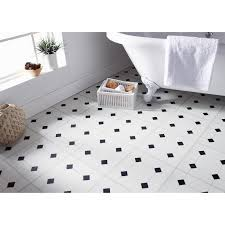 self adhesive floor tiles black white effect these