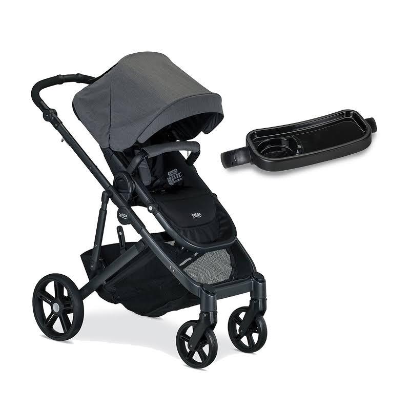 Britax B Ready G3 Folding Reclining Travel Baby Stroller And Stroller Snack Tray