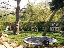 Large Backyard Landscaping Ideas Large Backyard With Trampoline Backyard Landscaping Grace Design