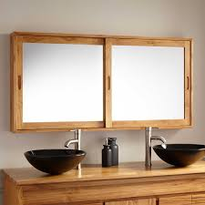 Wooden Mirrored Bathroom Cabinets 55 Wulan Teak Medicine Cabinet Bathroom
