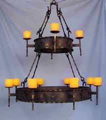 Rustic Candle Chandelier Wrought Iron U0026 Antler Chandeliers U0026 Lighting Rustic Tuscan