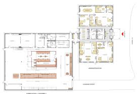 Manufacturing Floor Plan by Commercial Design Portfolio By Open Atelier Architects