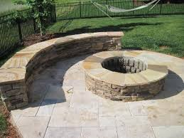 Custom Fire Pit by Charlotte Travertine Tile Patio With Custom Fire Pit Outdoor