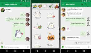 hangouts apk hangouts update introduces stickers smart suggestions timests