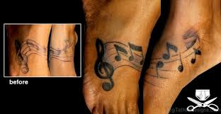 52 awesome music tattoos on foot