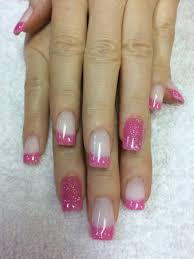 these are pink and white ombré nails white tip with white and