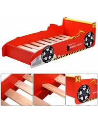 Car Bed Frames Find The Best Deals On Costway New Race Car Bed Toddler Bed