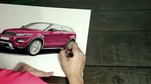 range rover drawing range rover evoque sketch youtube