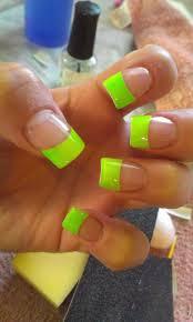 neon green acrylic nail designs gallery nail art designs