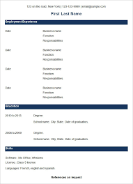 Example Of Simple Resume Format by Simple Resume Format Examples