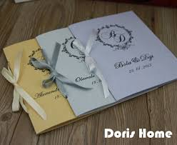 customized wedding programs aliexpress buy customized wedding program of events wedding