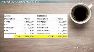 personal balance sheet uses u0026 examples video u0026 lesson