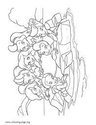 mermaid princesses sea coloring